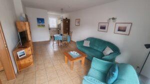 Küche, Essbereich, Wohnbereich Ferienwohnung Heidhöhn